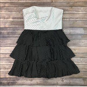 White House Black Market Dresses - NWT WHBM Polka Dot Tiered Layered Flare Dress